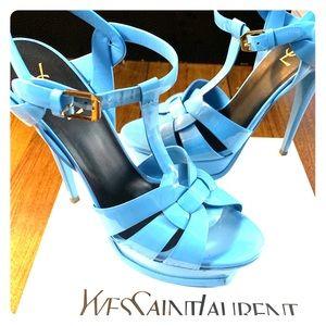 Saint Laurent Tribute Patent Platform Sandals